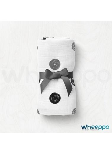 Wheeppo Siyah Beyaz Puan  Müslin Örtü  120*120 Cm Renkli